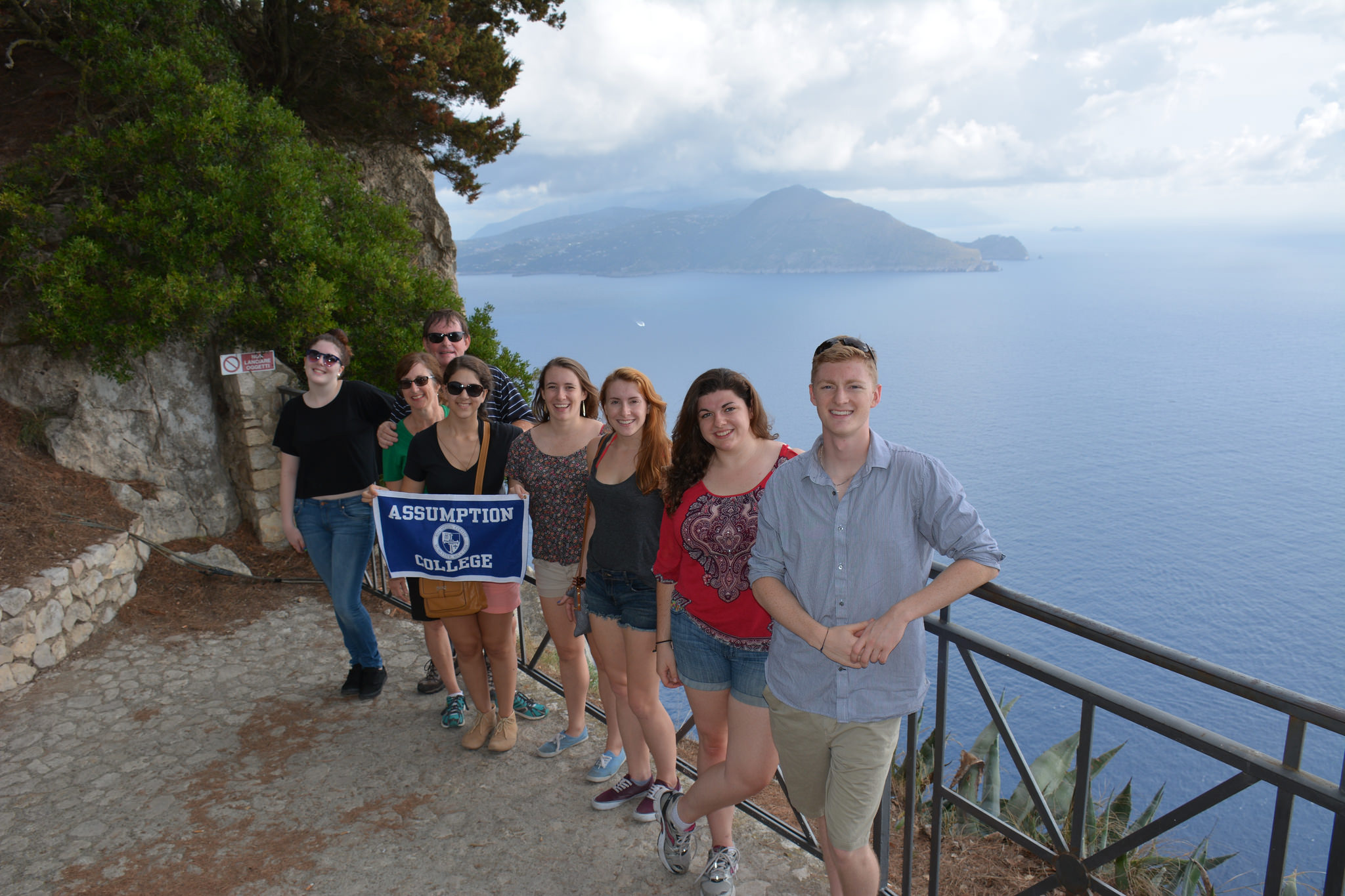 Assumption students studying in Rome on one of many excursions throughout Italy.