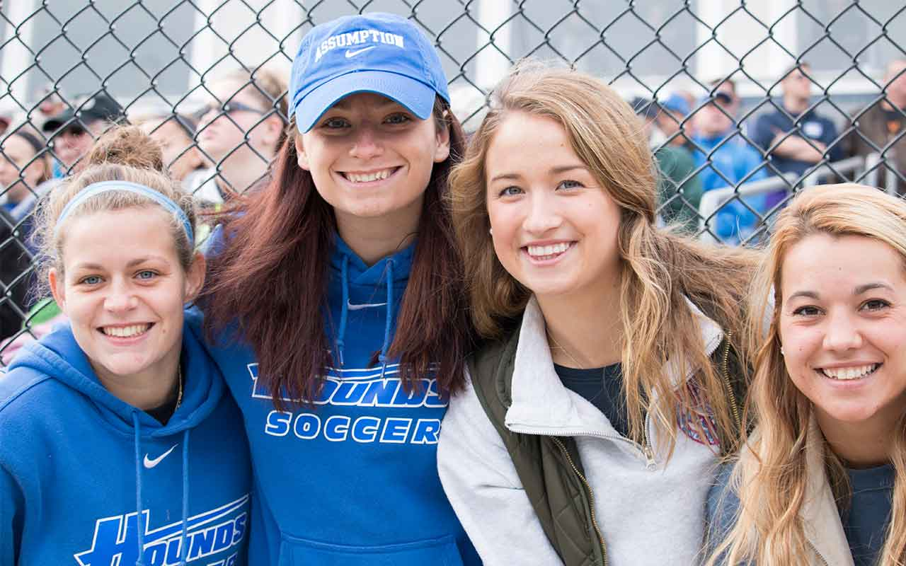 Assumption alumni enjoy Homecoming weekend.