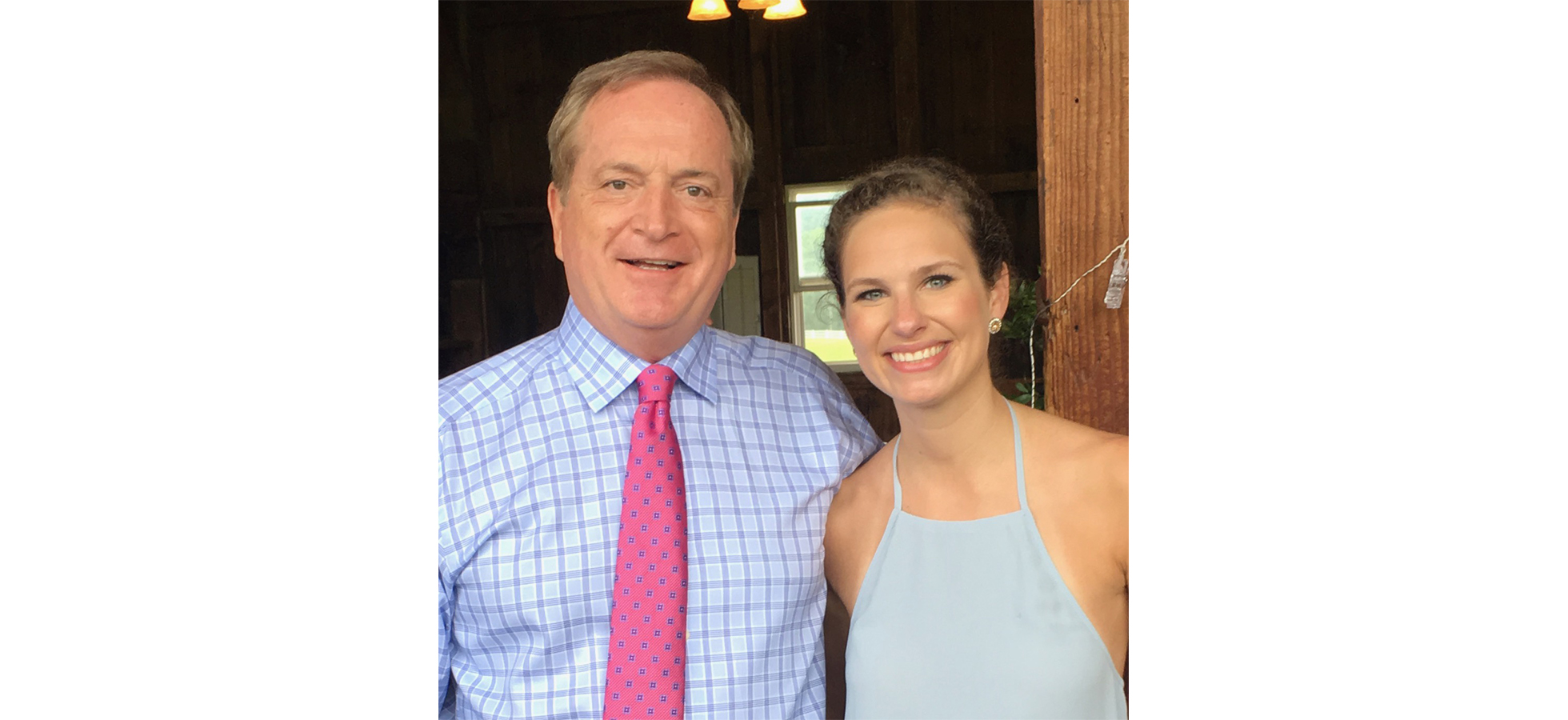 Photo of Christopher Froelich '77 and his daughter, Eric Rose, RN. Assumption University's School of Nursing is named after Christopher.