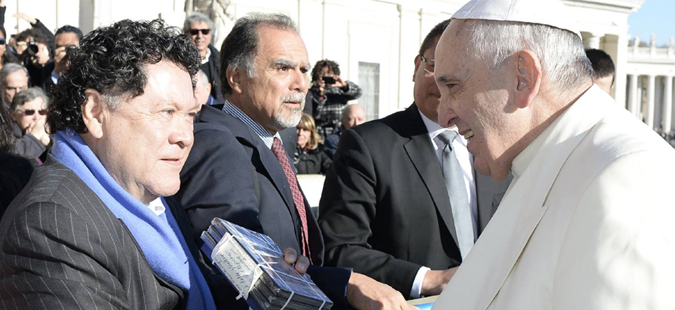 Luis Argueta and Pope Francis
