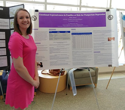 An Assumption College Psychology major at the Undergraduate Symposium.